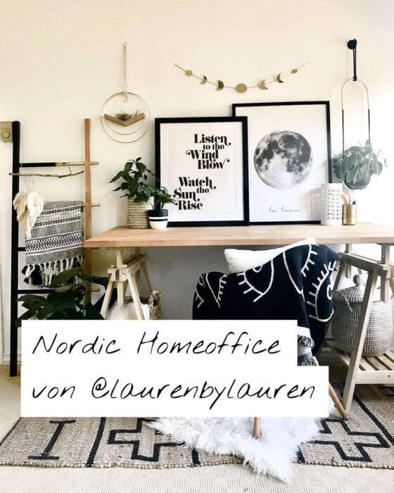 HomeTrends-Nordic Homeoffice von laurenbylauren-Instagram