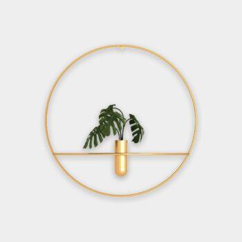HomeTrends-Wandring gold Dekoration Blumen Vase