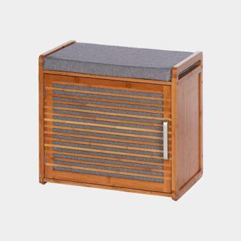 HomeTrends-Aufbewahrungsbox -Schuhbox in bambus grau
