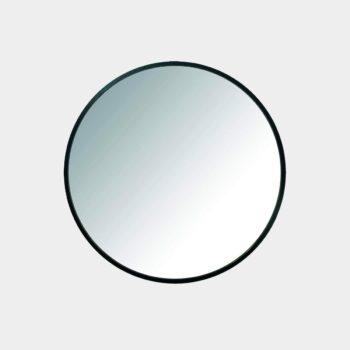 HomeTrends-Umbra Hub Wandspiegel – Runder Spiegel für Schlafzimmer-Badezimmer-Wohnzimmer-Schwarz-61cm Durchmesser